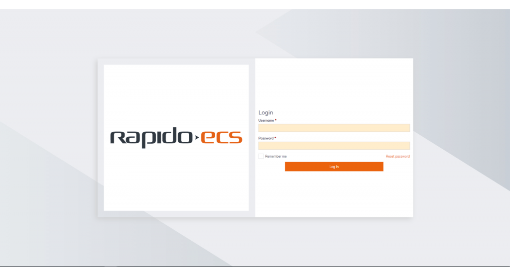 Software Rapido ECS Login